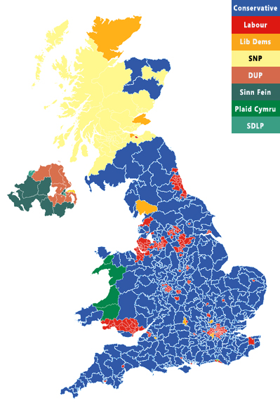 2019 UK Election-Map